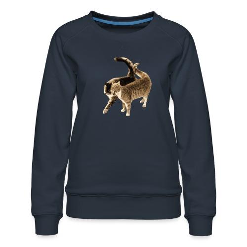 happy cats retro look - Women's Premium Sweatshirt