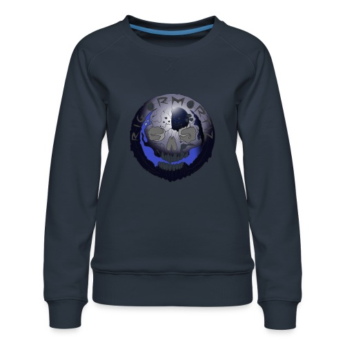 Rigormortiz Metallic Blue-Black Design - Women's Premium Sweatshirt