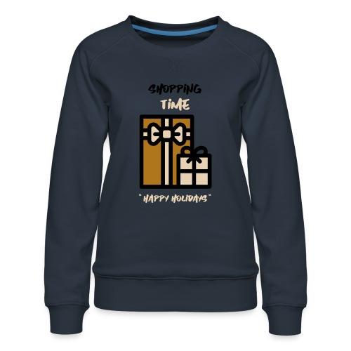 Julegenser - Shopping time - Premium-genser for kvinner