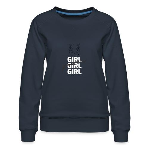girl power t shirt design - Sudadera premium para mujer
