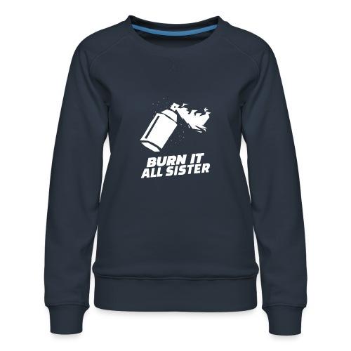 feminist themed t shirt design maker featuring - Sudadera premium para mujer