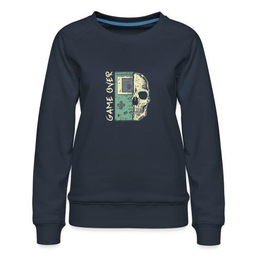 Game over Gaming Spruch Outfit für Zocker Gamer - Frauen Premium Pullover