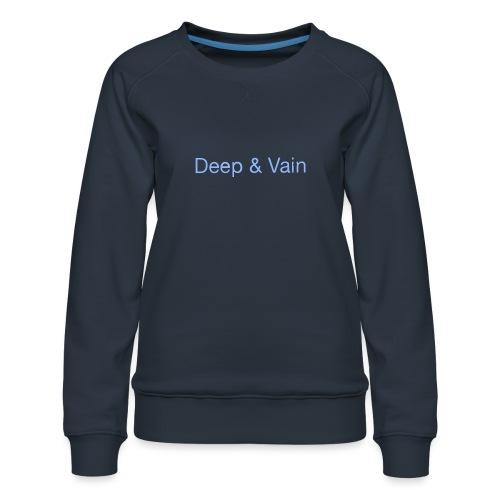 Deep&Vain Text Logo - Vrouwen premium sweater