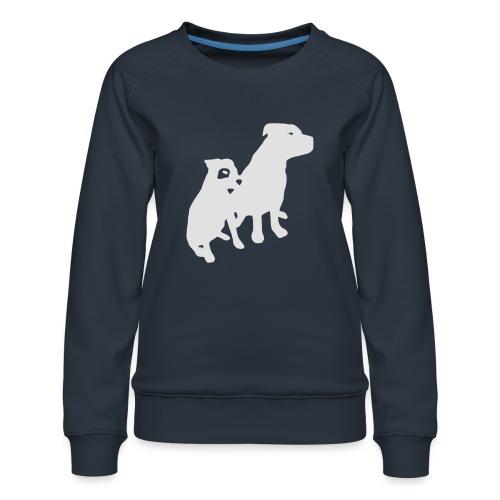 Doggy / zwei brave Hunde zum verschenken - Frauen Premium Pullover