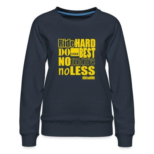 ridehard yellow - Women's Premium Sweatshirt