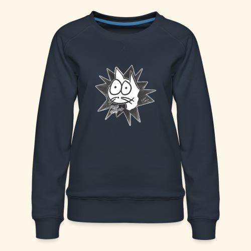 Glotzi die Glotzkatze - Frauen Premium Pullover