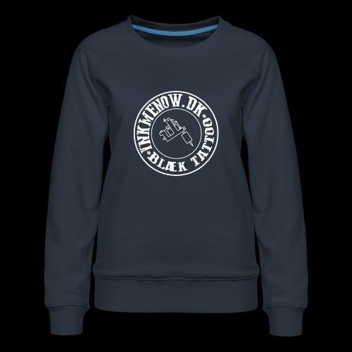 logo hvid png - Dame premium sweatshirt