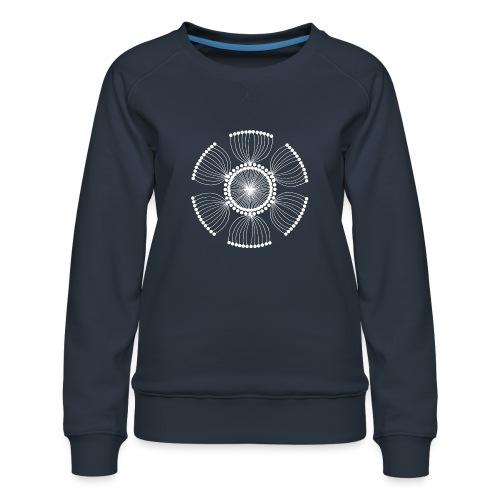 White Poppy Seed Mandala II - Women's Premium Sweatshirt