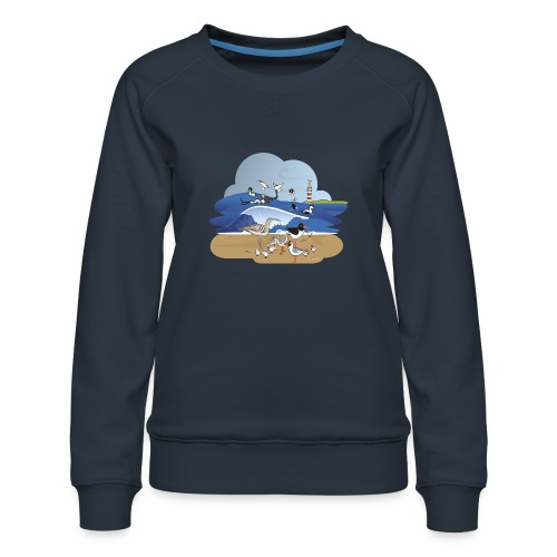 See... birds on the shore - Women's Premium Sweatshirt