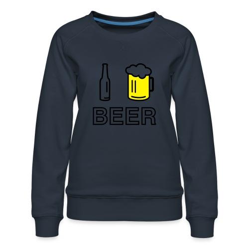 I Love Beer (2-farbig) - Frauen Premium Pullover