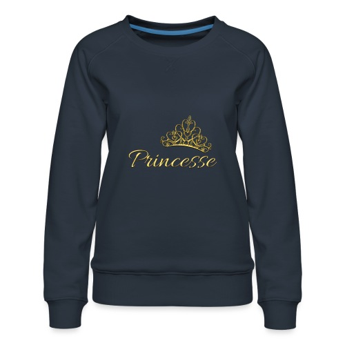 Princesse Or - by T-shirt chic et choc - Sweat ras-du-cou Premium Femme