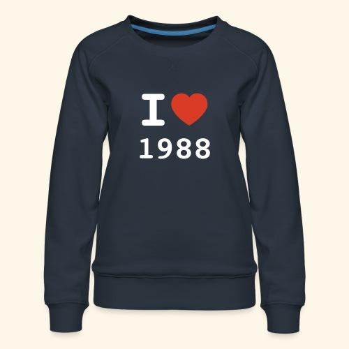 I Love 88 w p 001 - Frauen Premium Pullover