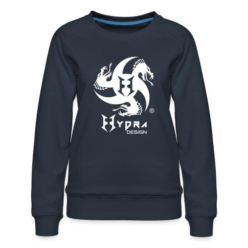 Hydra DESIGN - logo white - Felpa premium da donna