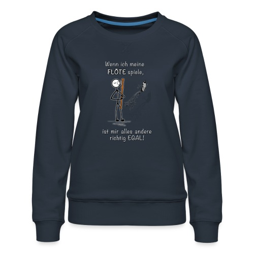 Recorder Love f. dark colours - Women's Premium Sweatshirt