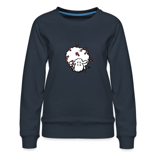 Candy Cane Sheep - Dame premium sweatshirt
