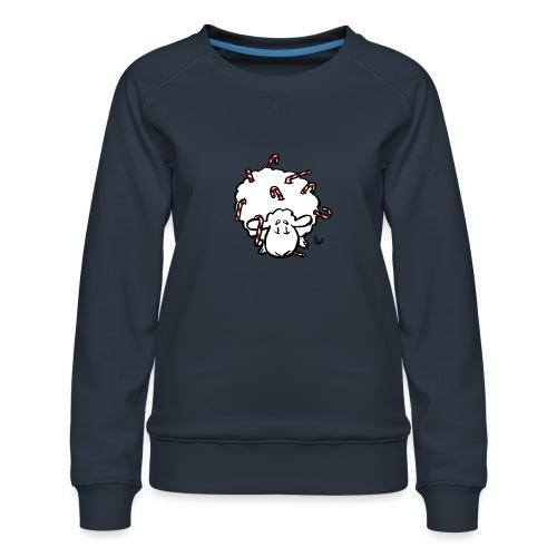 Candy Cane Sheep - Women's Premium Sweatshirt