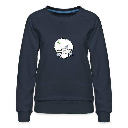 Juletræ får - Dame premium sweatshirt