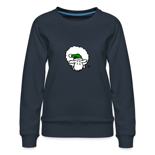 Julenisse (grønn) - Premium-genser for kvinner