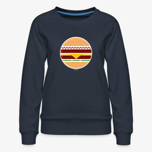 Circle Burger - Felpa premium da donna