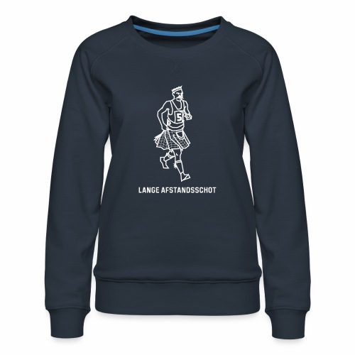 Lange Afstandsschot - Vrouwen premium sweater