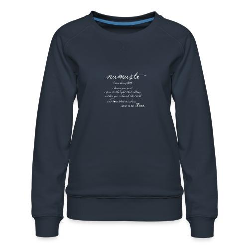 Yoga Namaste - Frauen Premium Pullover