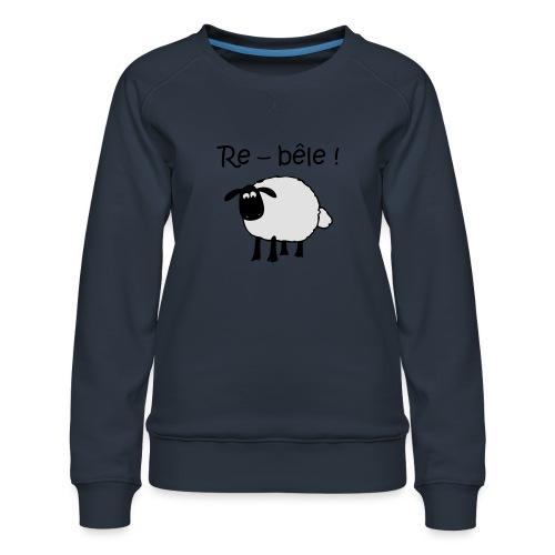 mouton-re-bele - Sweat ras-du-cou Premium Femme