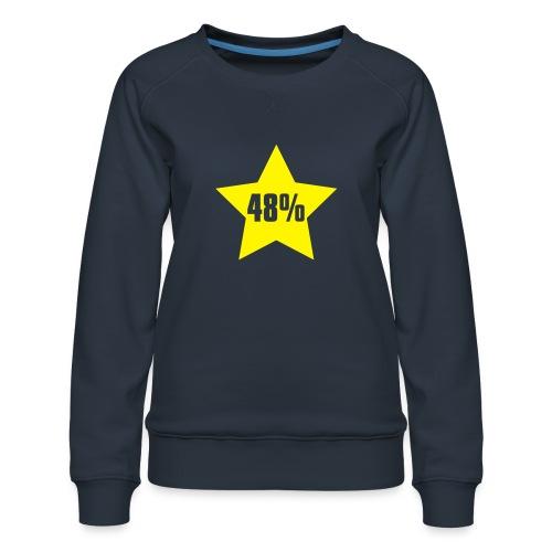 48% in Star - Women's Premium Sweatshirt