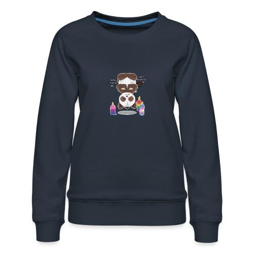 Panda Love - Dame premium sweatshirt