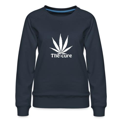The cure of cannabis leaf. - Women's Premium Sweatshirt