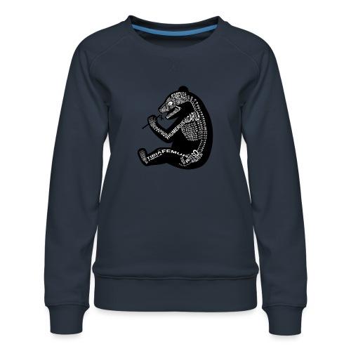 Panda skelet - Vrouwen premium sweater