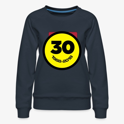 30 Jaar Belgian New Beat Smiley - Vrouwen premium sweater