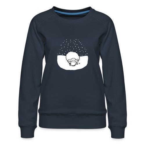 Snowy Sheep - Premium-genser for kvinner