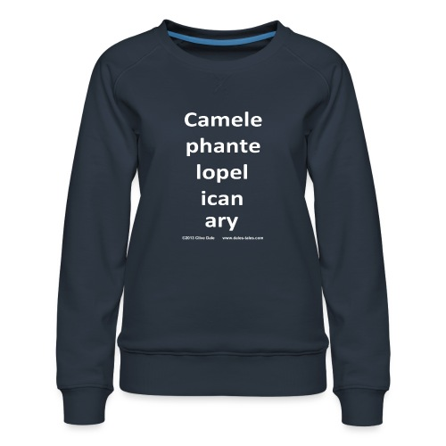 camelepha 5lines white - Women's Premium Sweatshirt