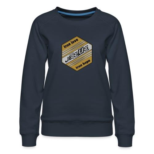 jesus 6eck - Frauen Premium Pullover