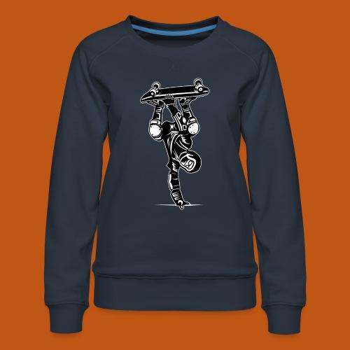 Skater / Skateboarder 02_schwarz weiß - Frauen Premium Pullover