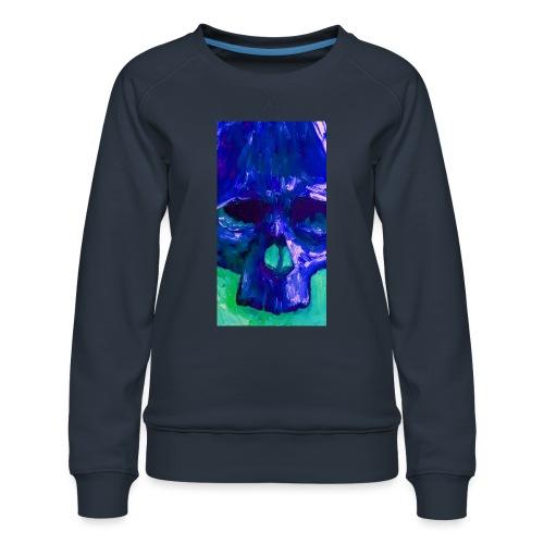 Blue Skull - Vrouwen premium sweater