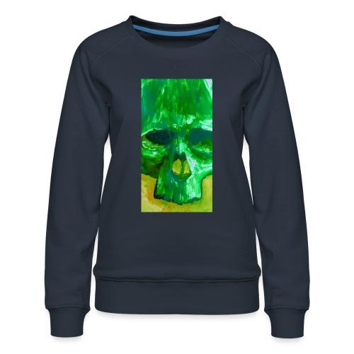 Green Skull - Vrouwen premium sweater