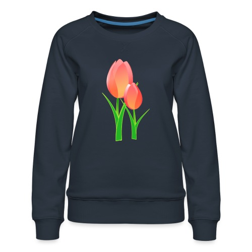 Belle fleur - Sweat ras-du-cou Premium Femme