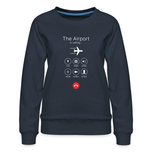 Lotnisko dzwoni - białe - Bluza damska Premium