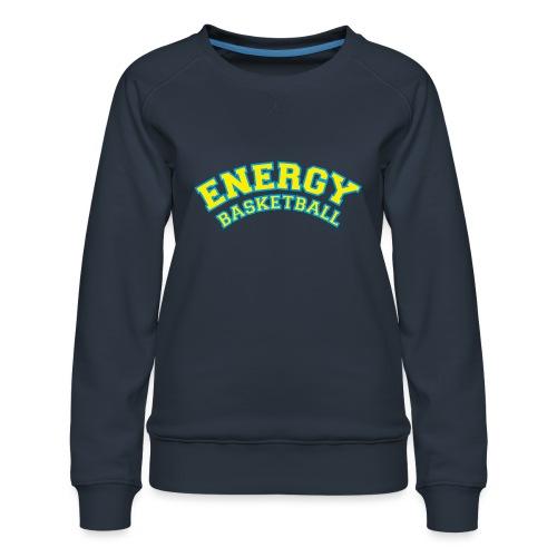 street wear logo giallo energy basketball - Felpa premium da donna