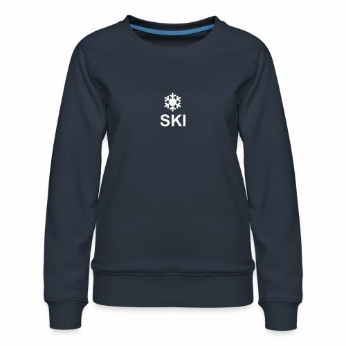 Flocon et ski - Sweat ras-du-cou Premium Femme