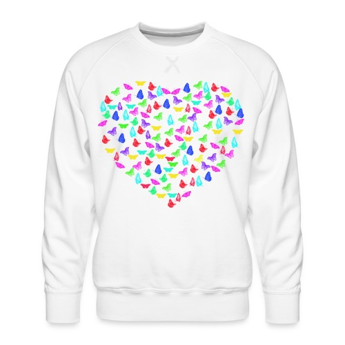 Butterflys heart - Men's Premium Sweatshirt