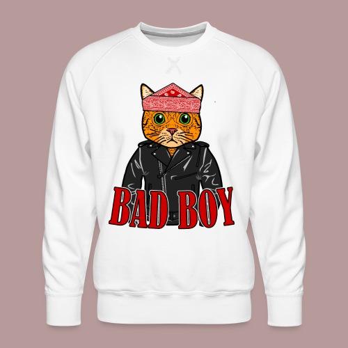 Bad boy chat roux rockeur - Sweat ras-du-cou Premium Homme