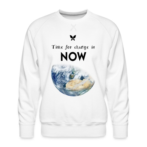 Time for change is now. (Earth Edition) - Männer Premium Pullover