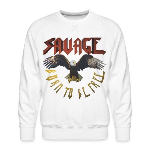 vintage eagle - Sudadera premium para hombre