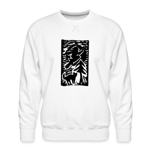 Hexe mit Katze - Männer Premium Pullover