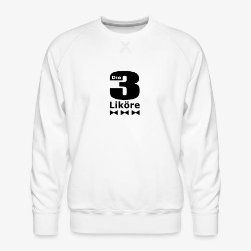 Die 3 Liköre - logo schwarz - Männer Premium Pullover