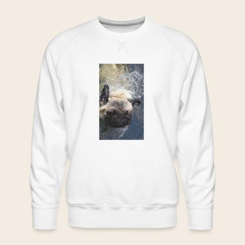 Mops schwimmt 2 - Männer Premium Pullover