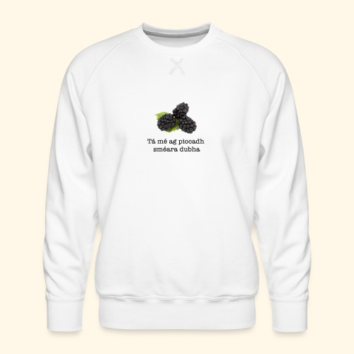 Picking blackberries - Men's Premium Sweatshirt
