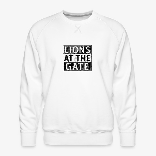 LIONS AT THE GATE BAND LOGO - Mannen premium sweater